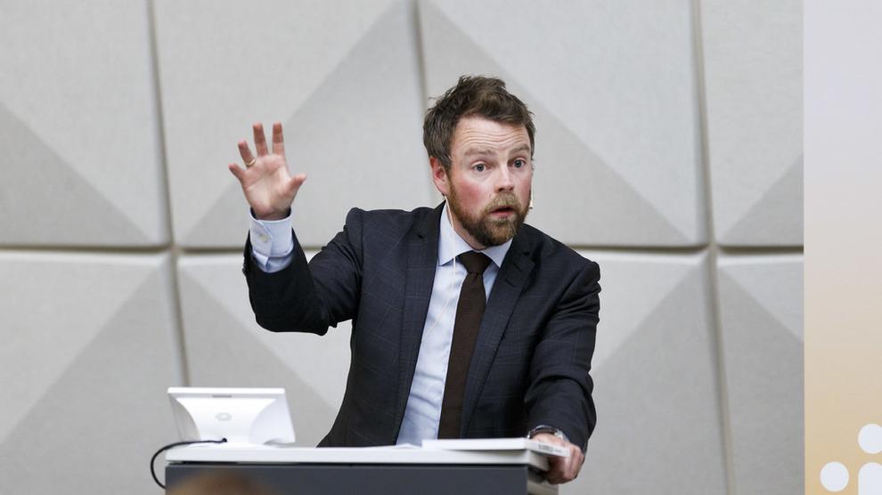 TIL HØRING: Nærings- og fiskeridepartementet sender et lovendringsforslag til høring onsdag. Her næringsminister Torbjørn Røe Isaksen ved en tidligere anledning.