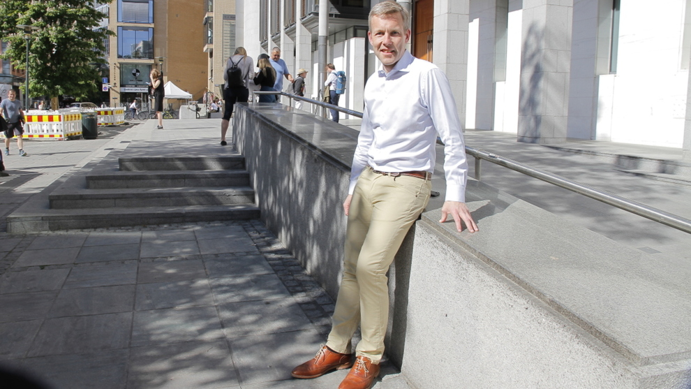 <p><b>TUNGVEKTER:</b> Forsvarer<b></b>Amund Noss er den norske bitcoin-veksleren Sturle Sundes skarpeste våpen i kampen om å få handle bitcoin gjennom Nordea.</p>