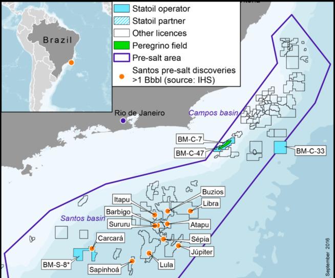 Statoil øker eierandelen sin i Brasil-lisensen BM-S-8 fra 66 til 76 prosent. Lisensen inneholder en stor del av Carcara-funnet.
