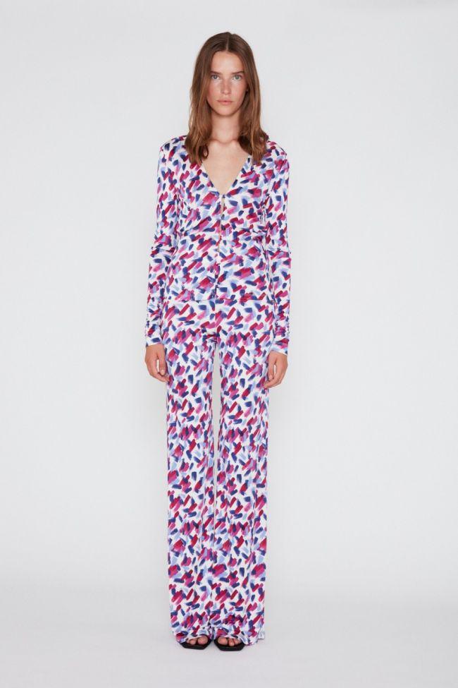 Fargerik bukse med grafisk print