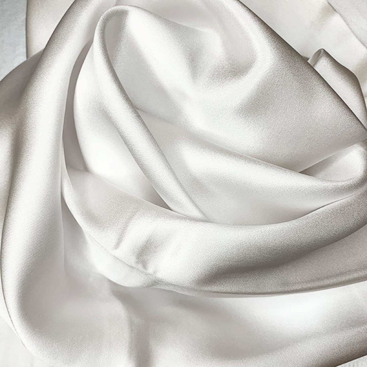 Putetrekk i silke