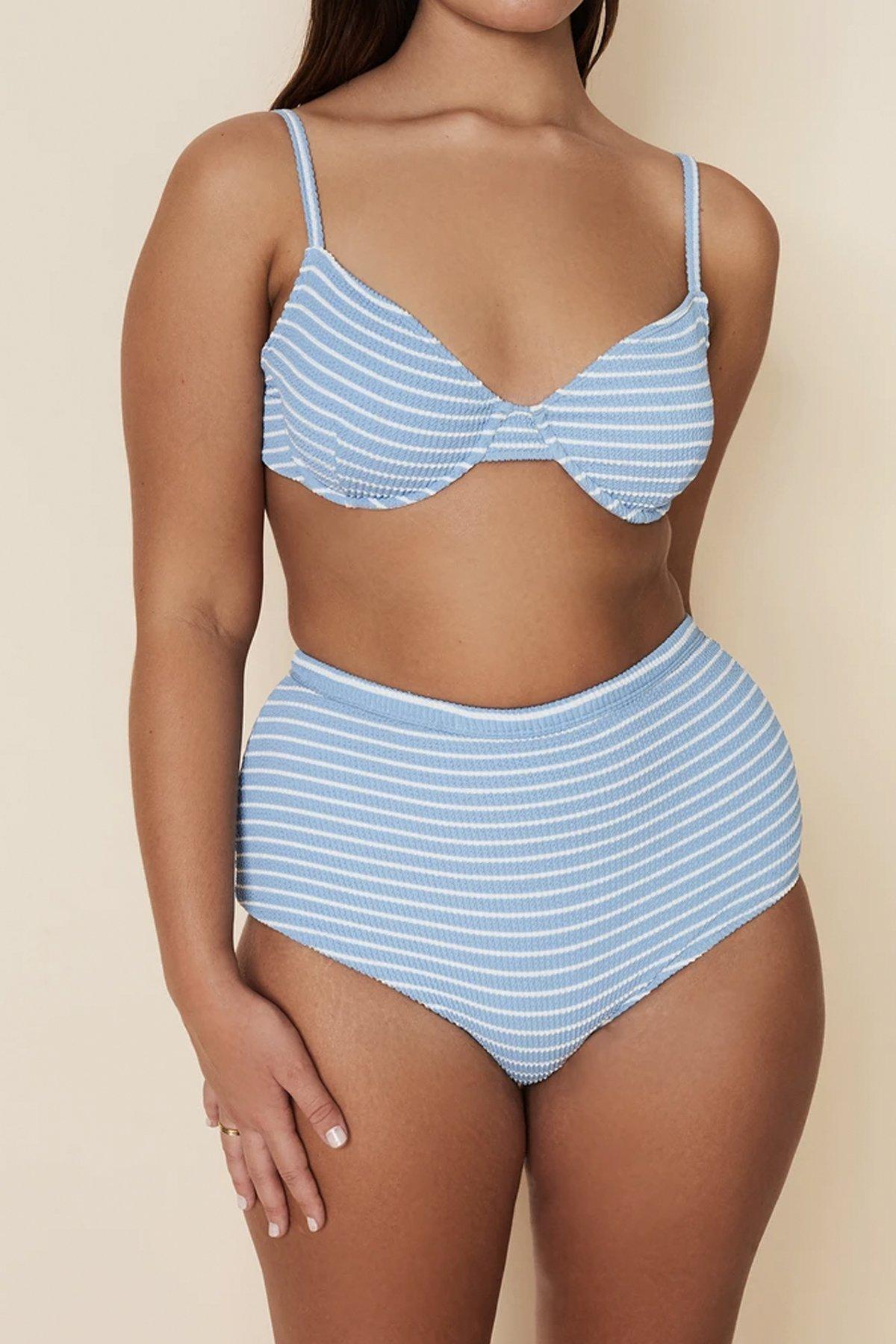 Stripet bikini