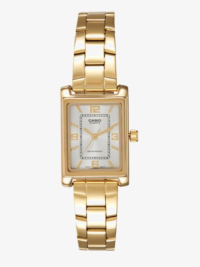 Gullfarget klokke med vintage-preg