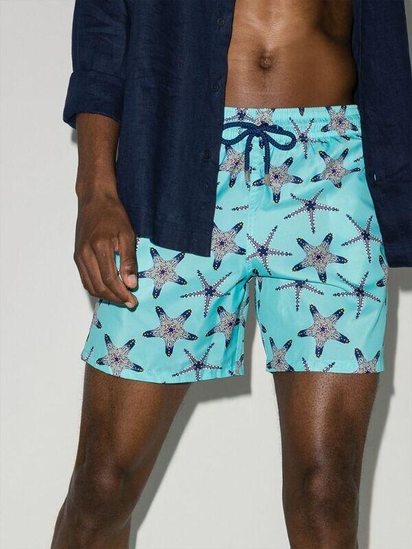 Shorts med sjøstjernemønster