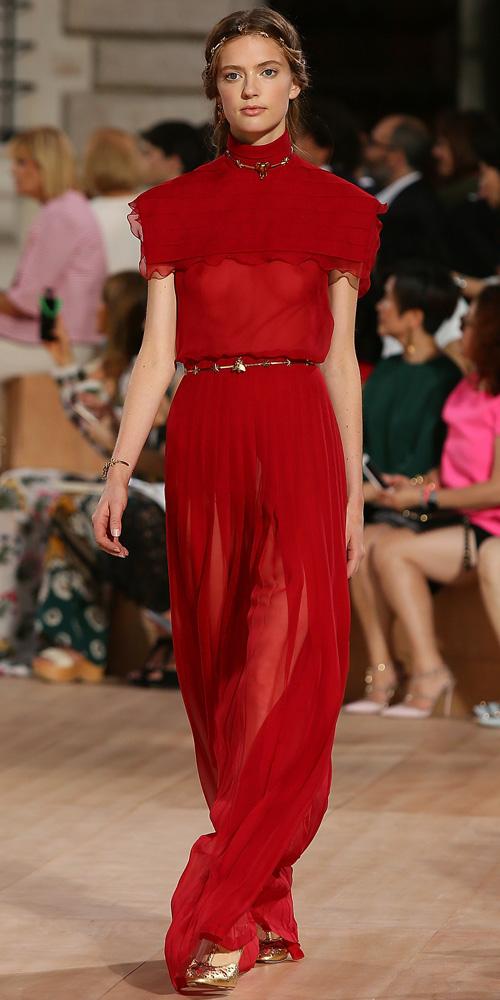Valentino haute couture fall/winter 2015 rødt