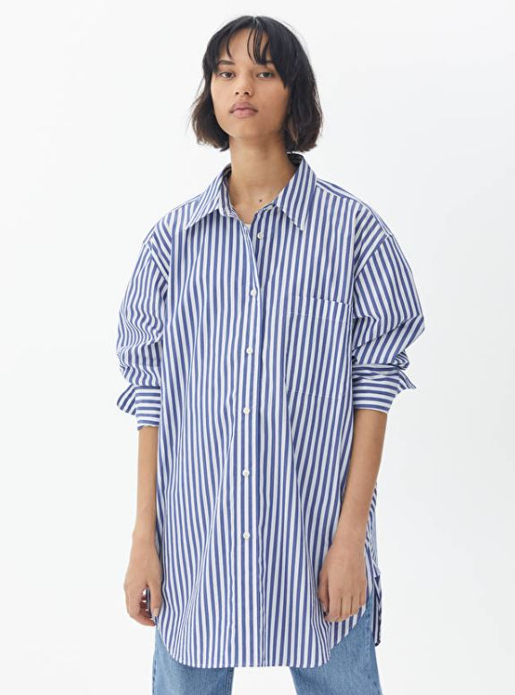 Stripete, oversized skjorte