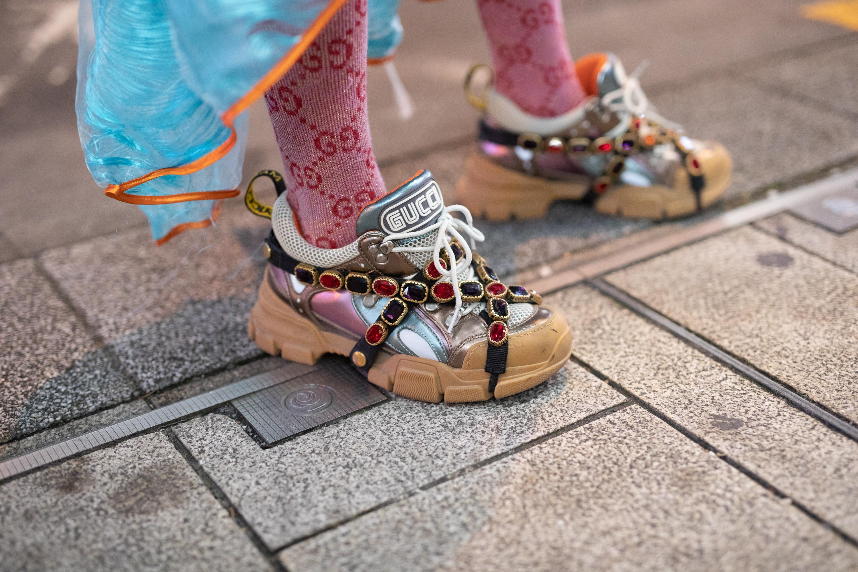 Sneakers - metallisk