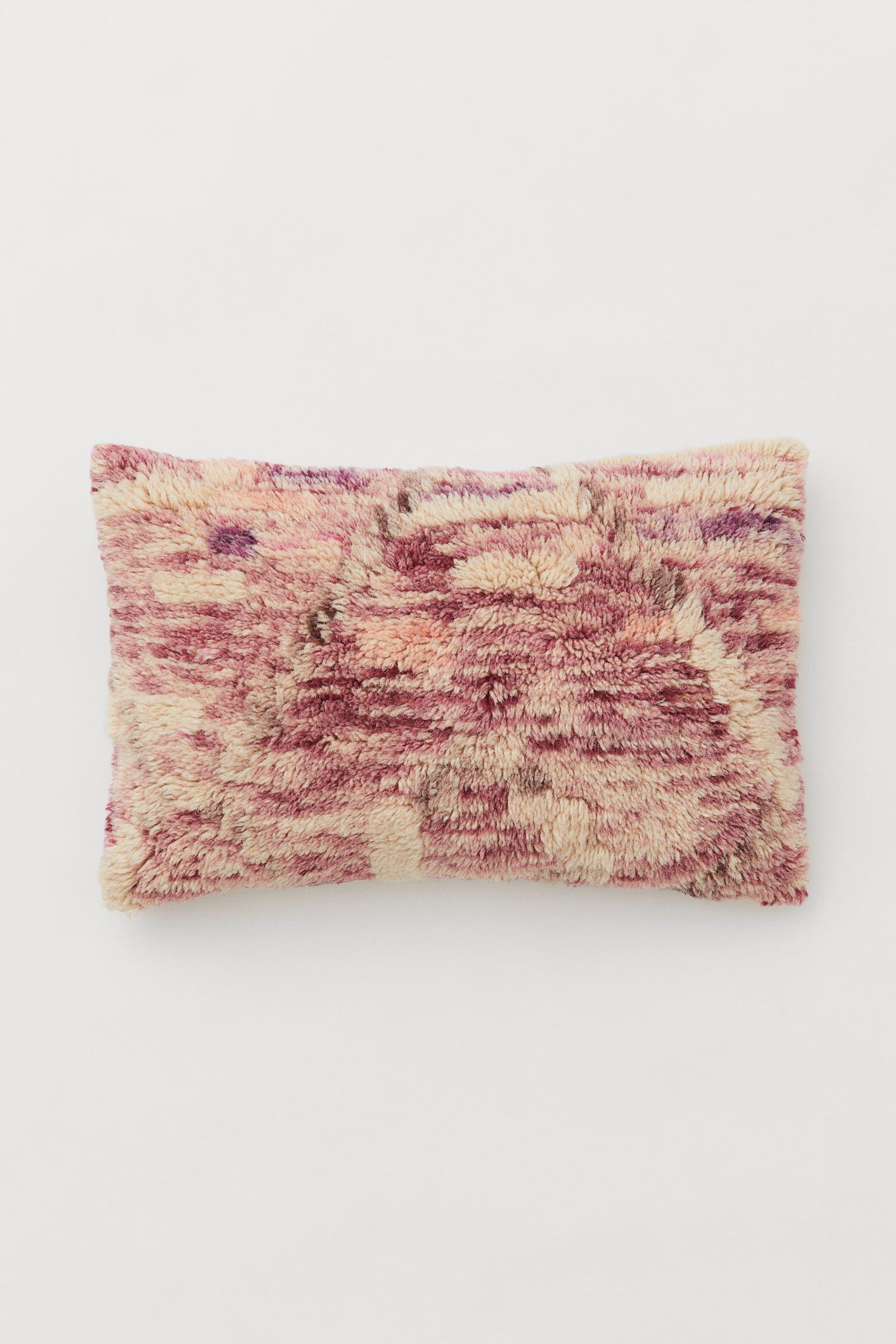 Mønstrete putetrekk i lilla- og rosatoner