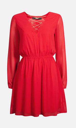 Korte røde kjoler 2015