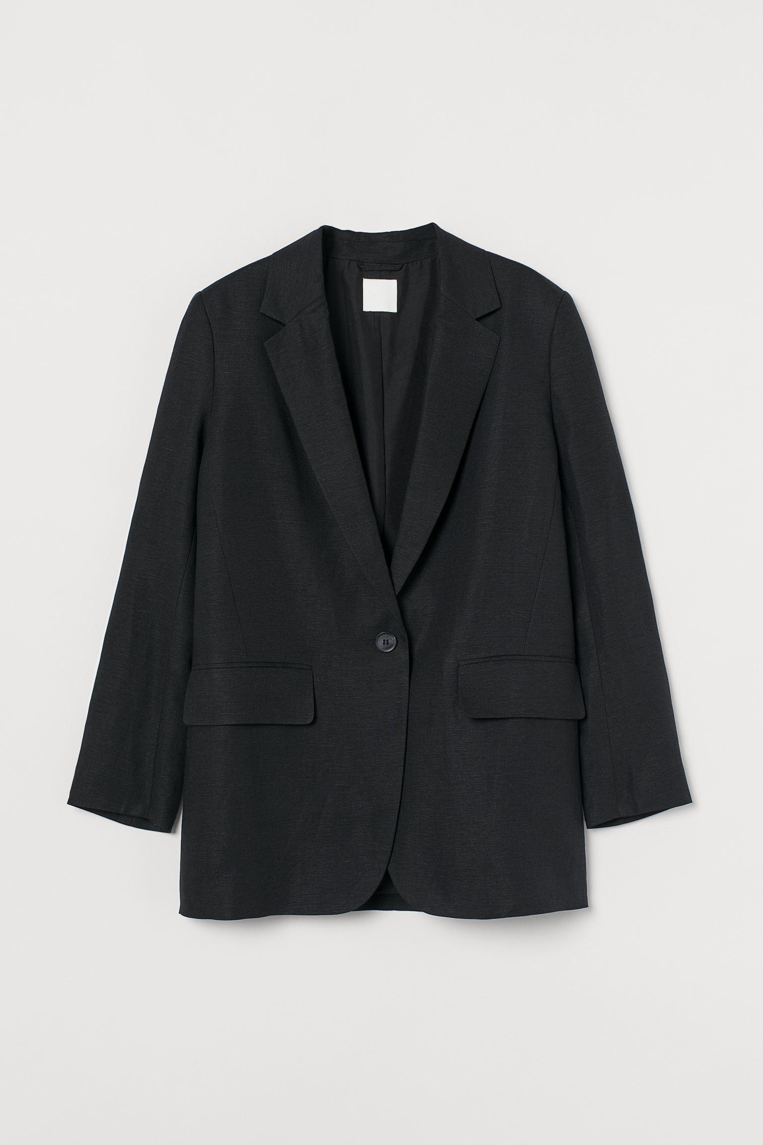 Oversized, svart blazer