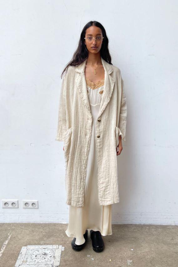 Lang jakke i lin