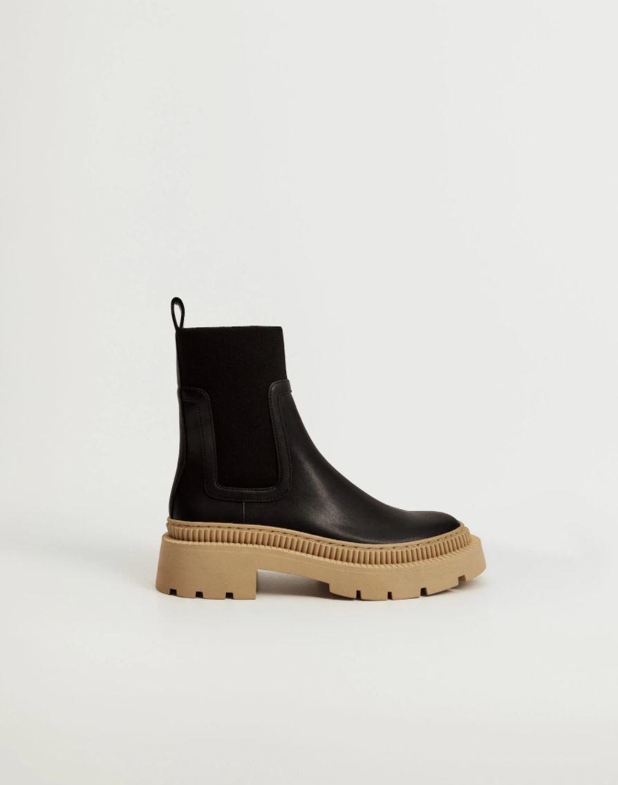 Boots med kontrastsåle
