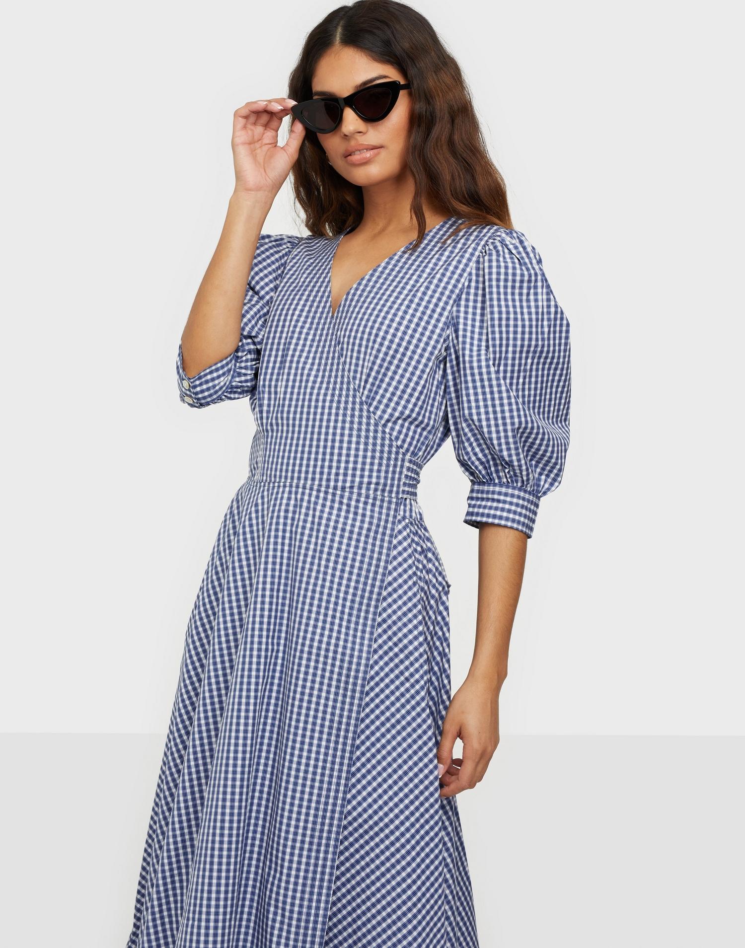 Gingham-kjole