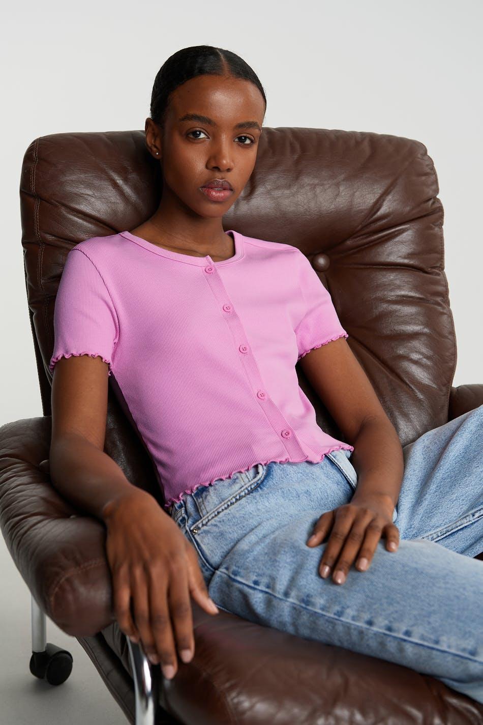 T-skjorte med knapper