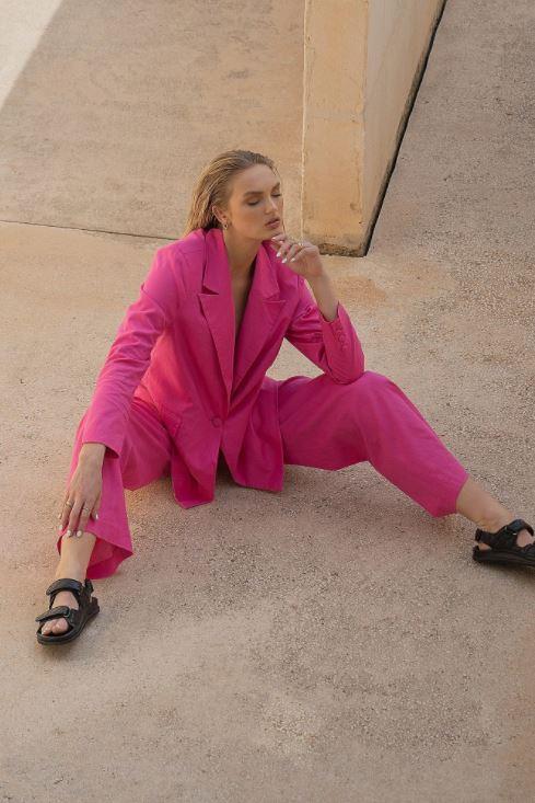 Oversized, rosa blazer