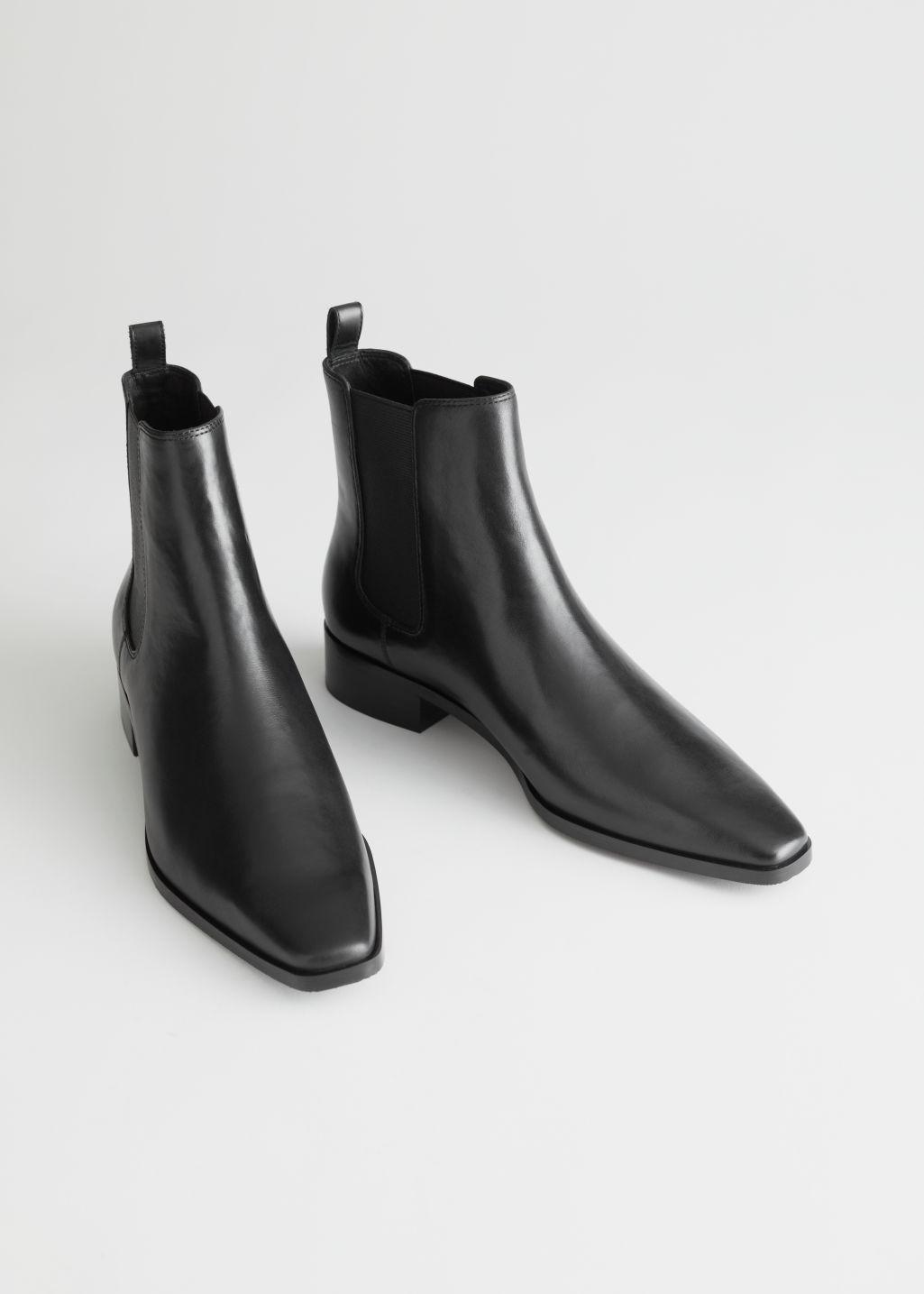 Boots i skinn