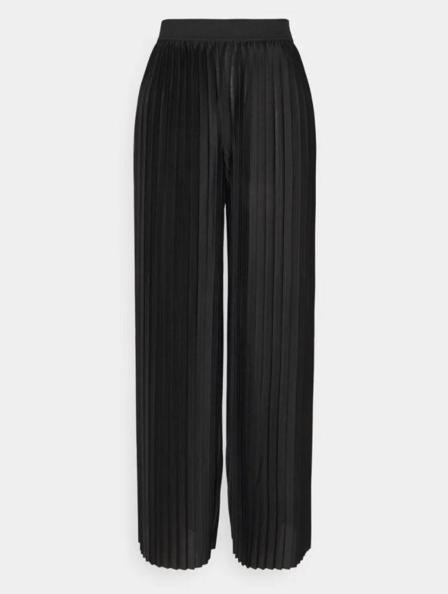 Plissert, svart bukse