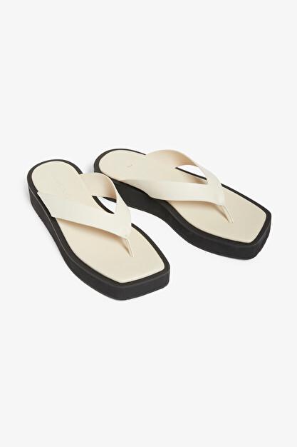 Beige flip-flop