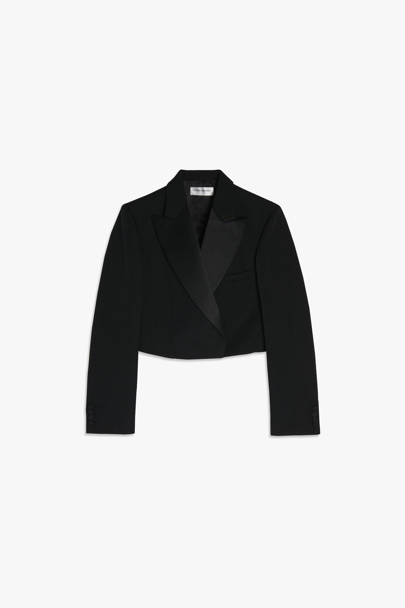 Cropped tuxedo-blazer
