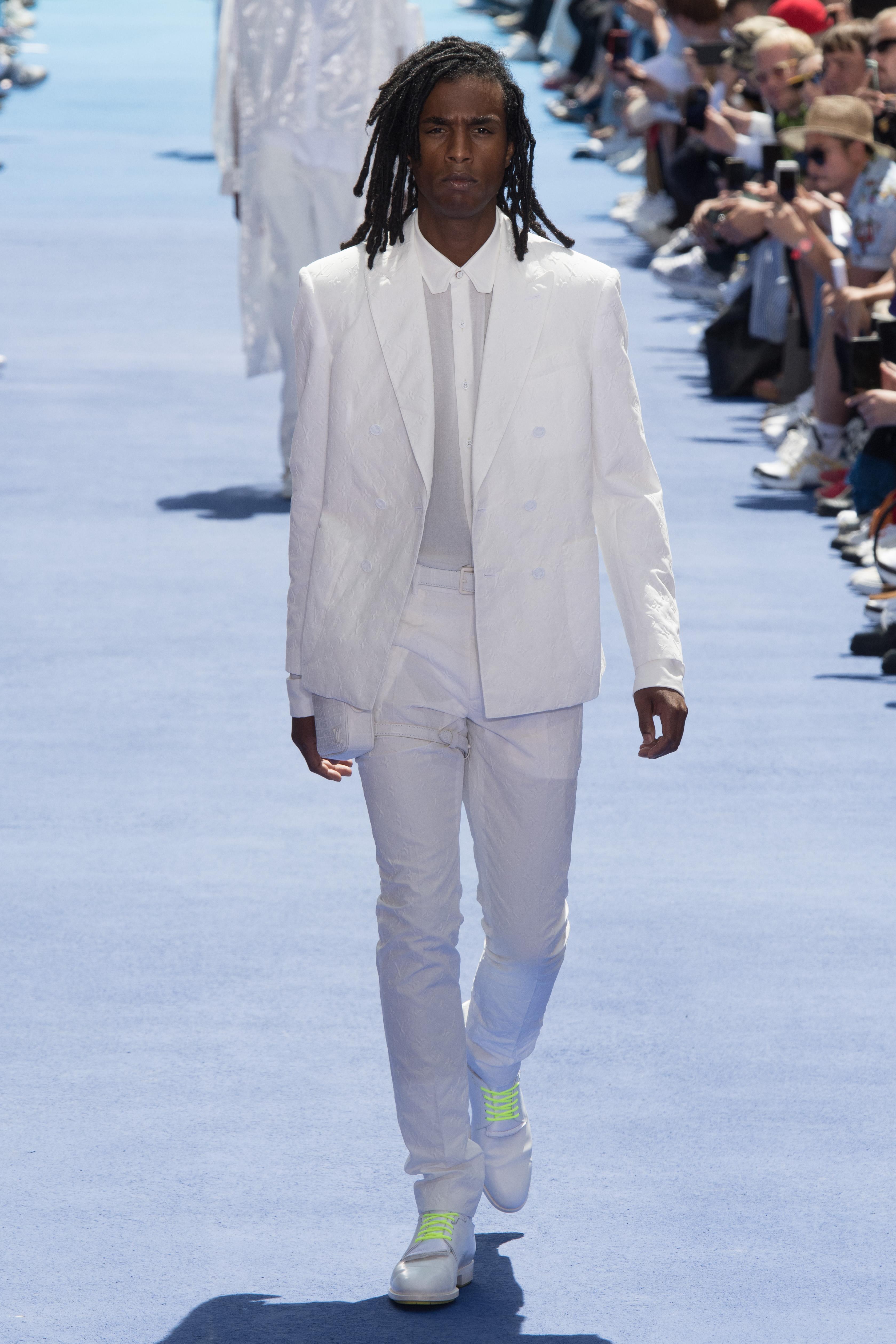 Louis Vuitton herrekolleksjon all white