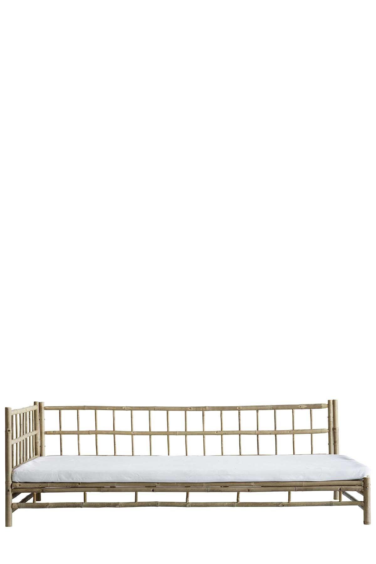 Daybed i bambus med hvitt trekk