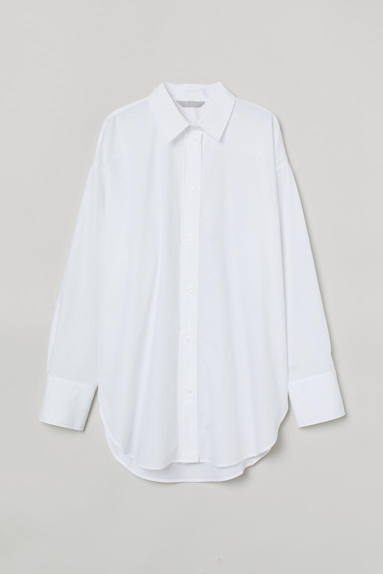 Hvit skjorte i bomull