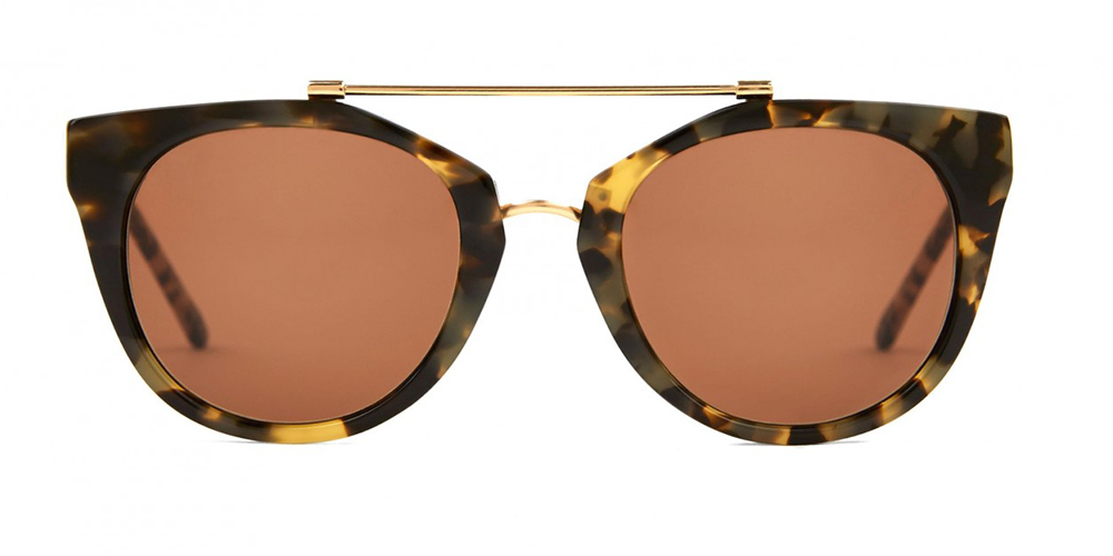 Runde cat eye solbriller