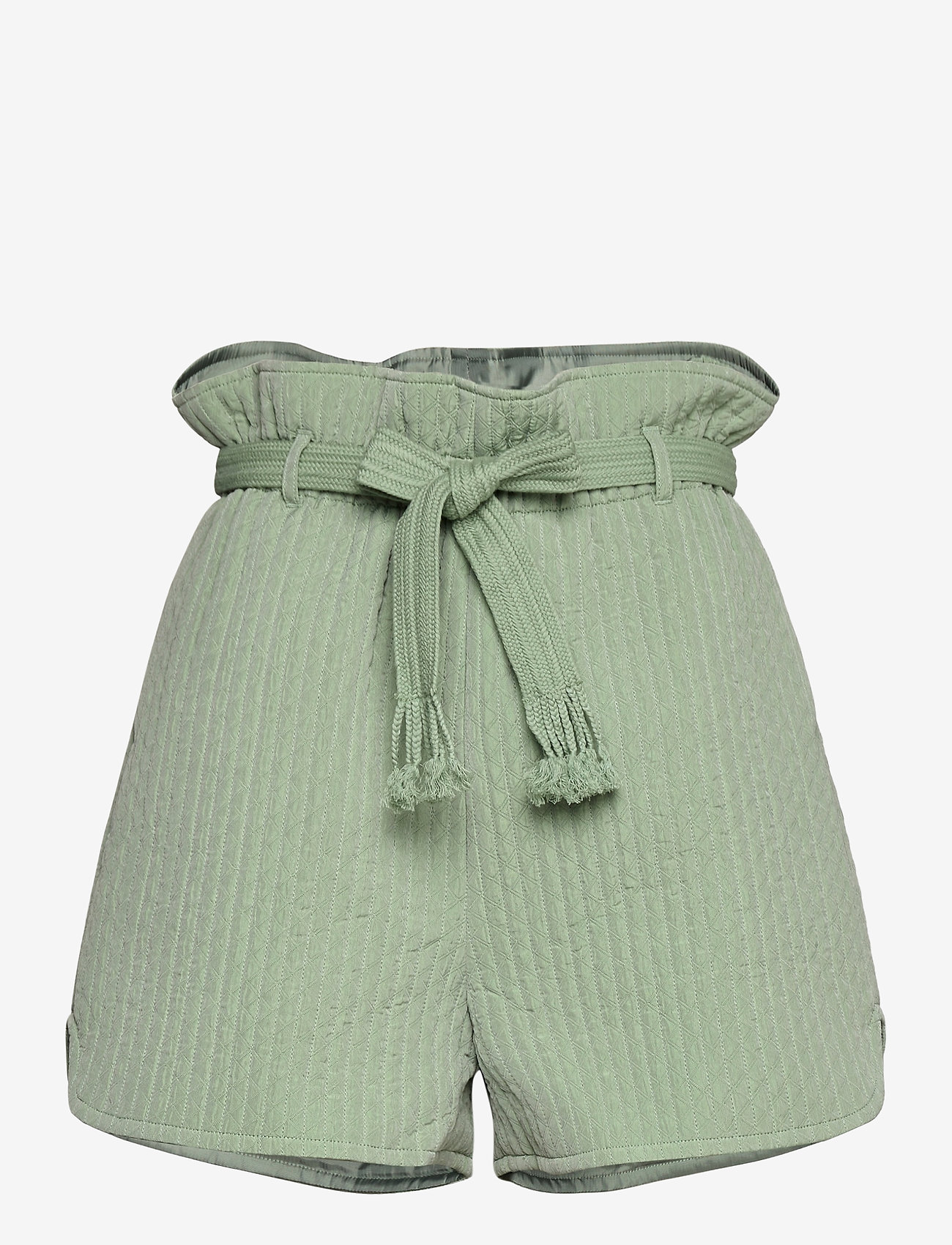 Grønn shorts med knyting