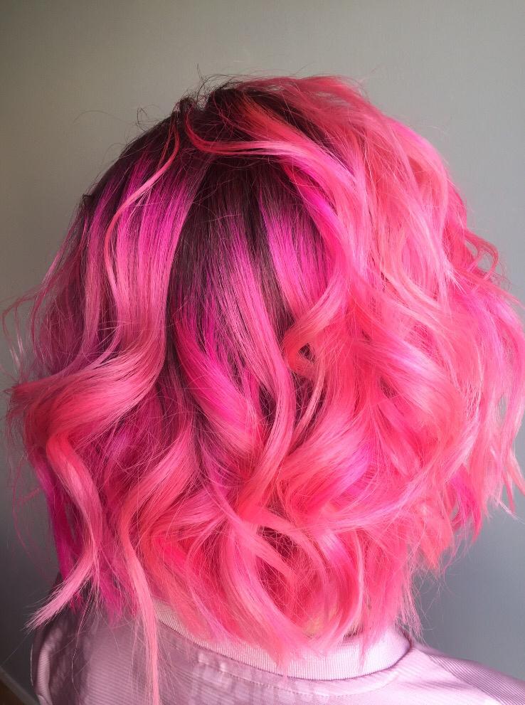Rosa hår 1