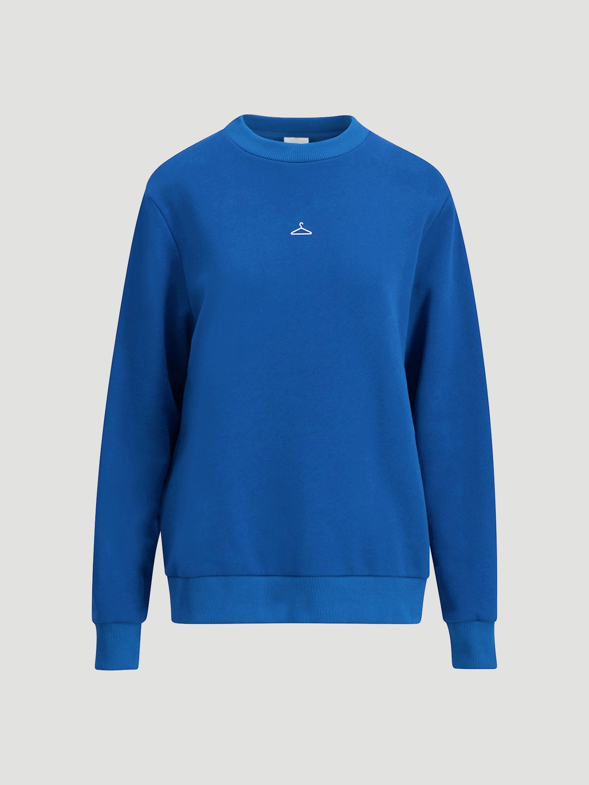 Knallblå genser