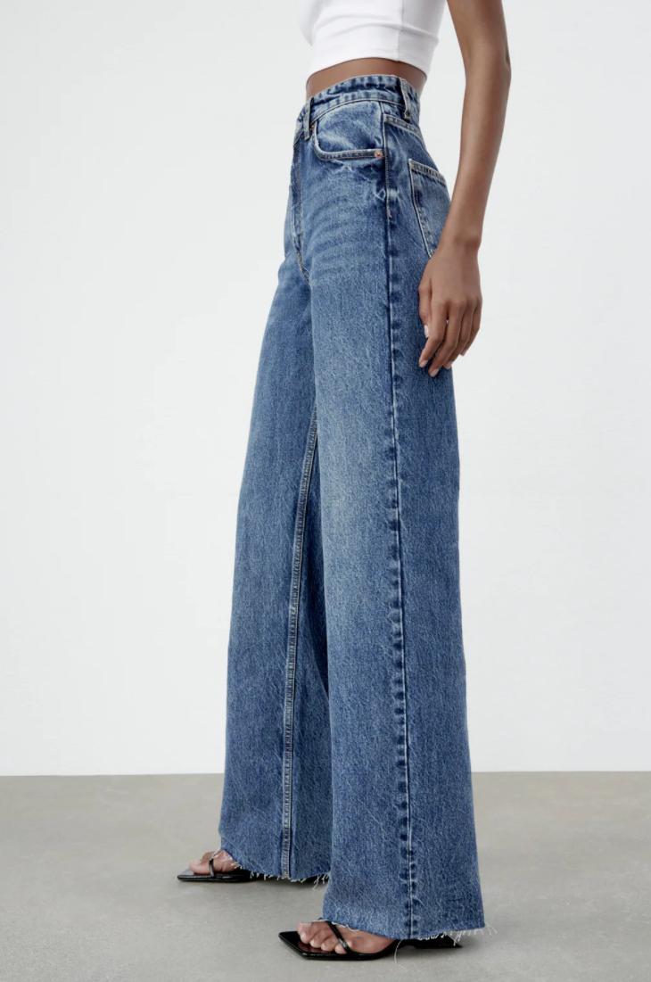 Jeans med vide ben