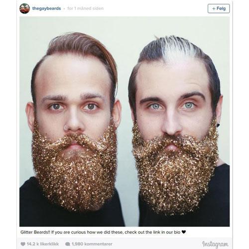 skjegg med glitter