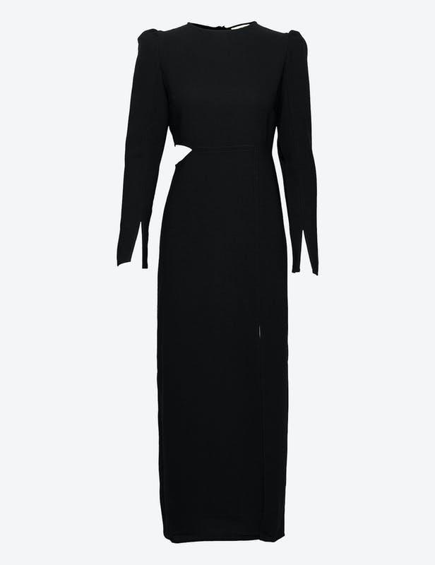 Kjole med cut out-detaljer