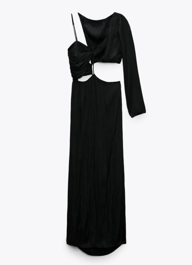 Svart kjole med cut out-detaljer