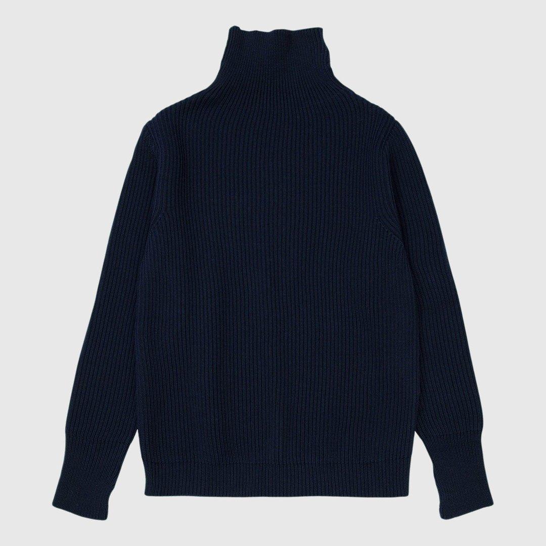 Høyhalset genser i ull