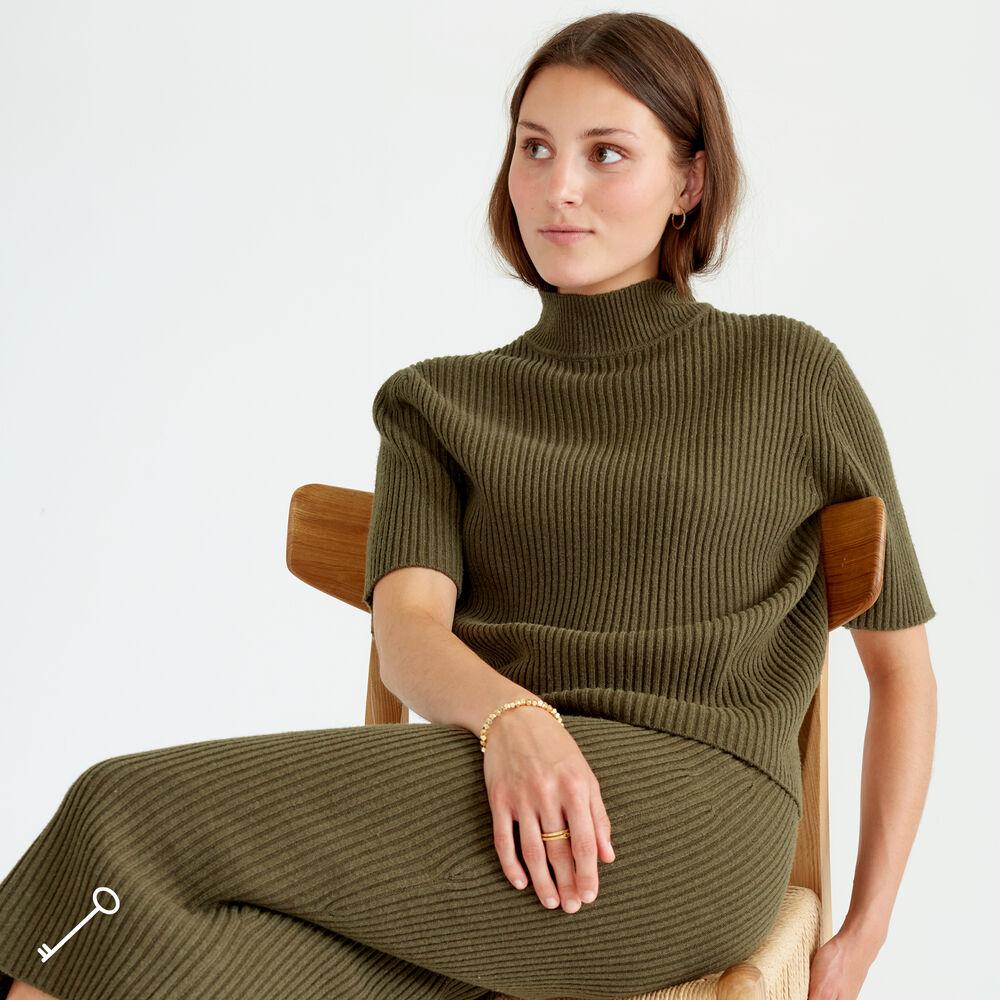 Kortermet genser i ullmiks