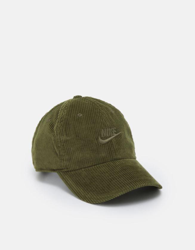 Kordfløyel-caps i grønt