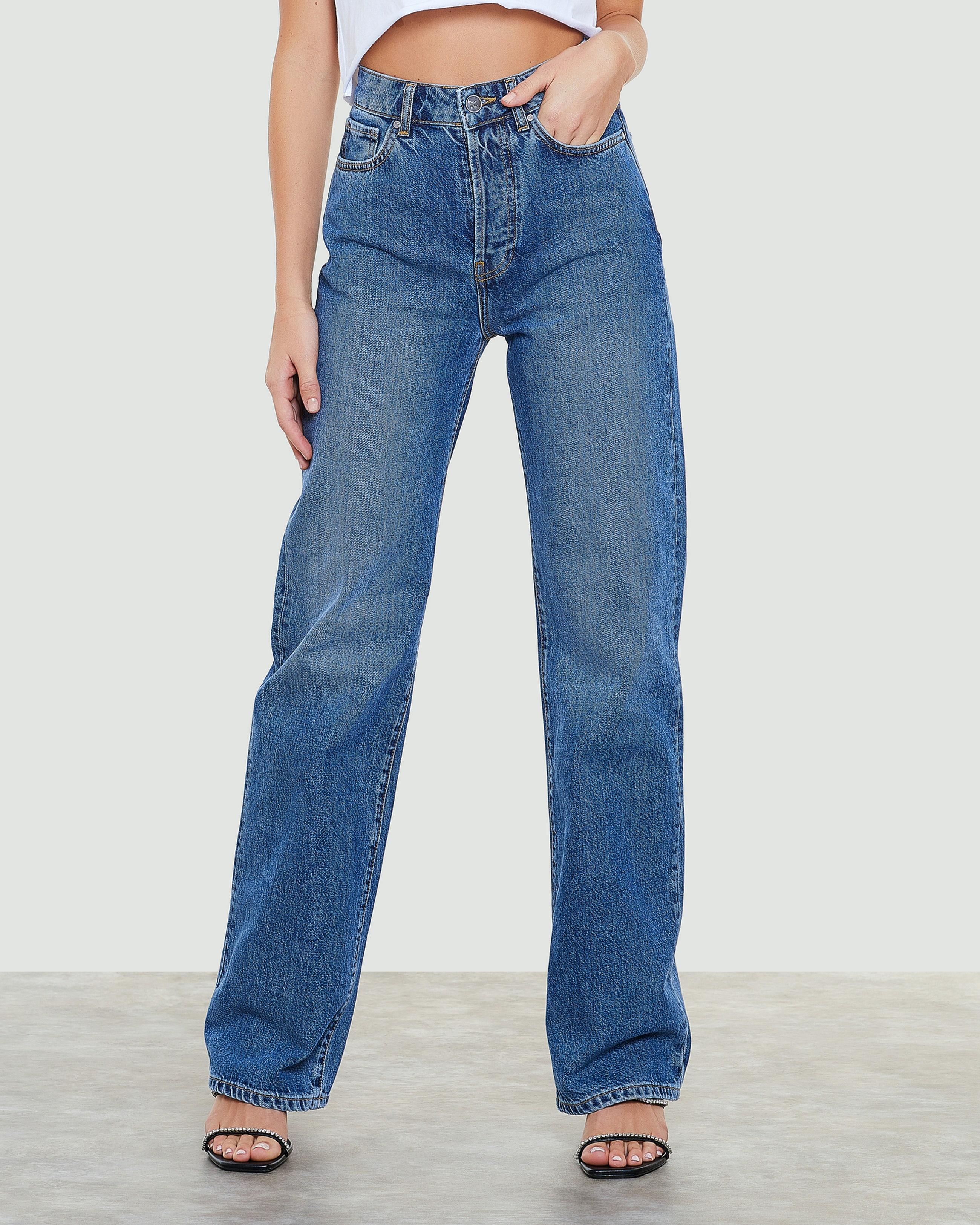 Rette jeans med høyt liv