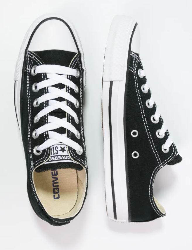 Lave sneakers i svart og hvitt