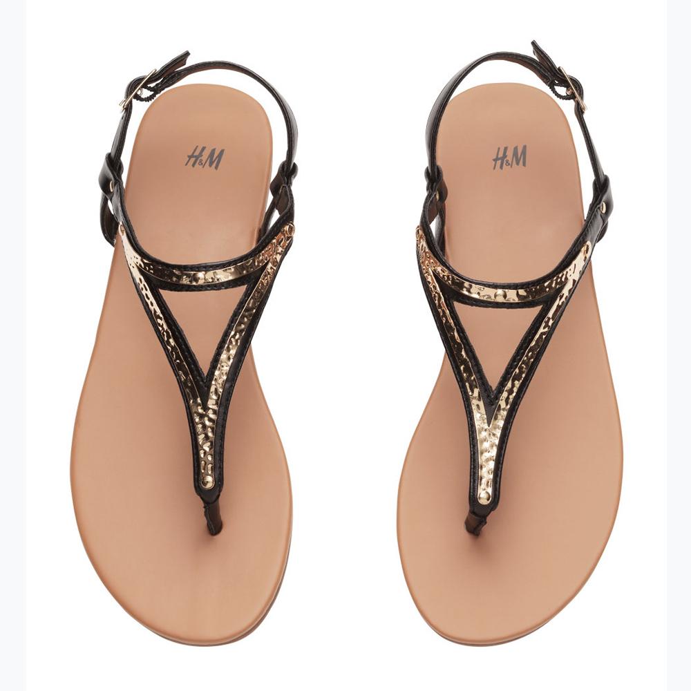 Metalliske sandaler