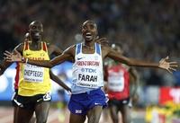 Farah tok gullet på hjemmebane