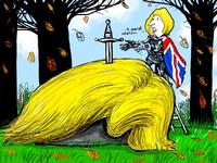 Theresa May kan legge føringer for en president som ikke aner hvor han står politisk