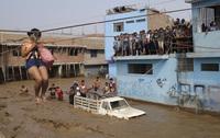 Dødstallet stiger under flom i Peru