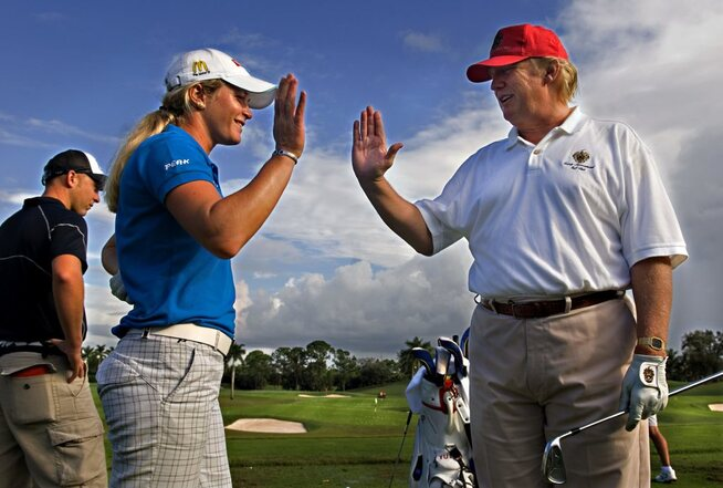 Image result for Trump Suzann Pettersen