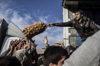 Kaos da hjelpeforsyninger nådde Mosul