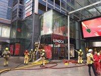 Oslo City evakuert etter brann