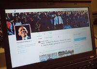 Obama overgir Twitter-konto til Trump