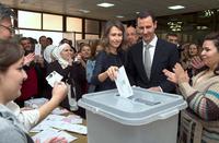 Assad holder valg i regjeringskontrollerte områder