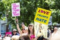 Marsjerer mot Trump