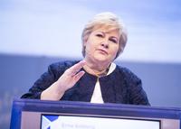Solberg vil fortsatt ha tiggeforbud